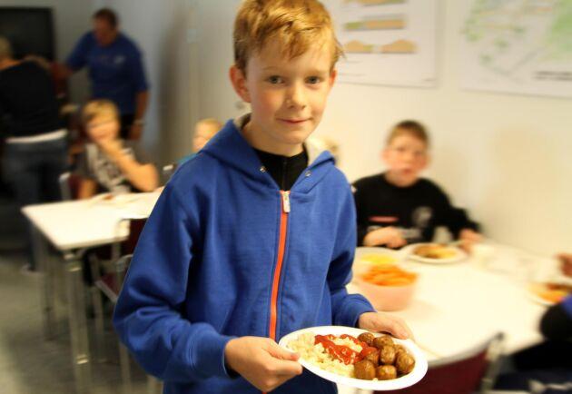 Laholms kommun tar bort vegetariska dagar i skolan för att stötta lantbrukare. Arkivbild.