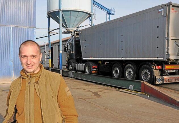 Arvtagaren. Norbert Kiss jobbar i familjeföretaget och är särskilt engagerad i den siloanläggning de bygger.