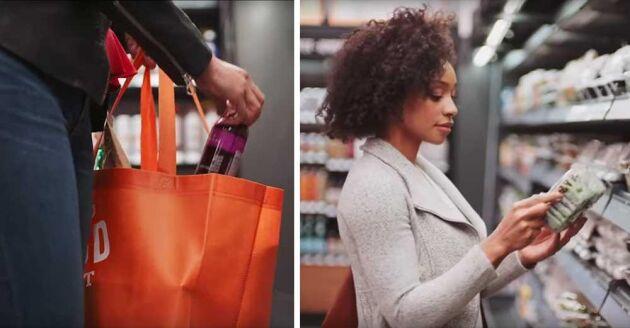 Sensorer och kameror läser av vad kunderna plockar på sig och kostnaden dras automatiskt från kundens Amazon-konto när hen lämnar butiken.