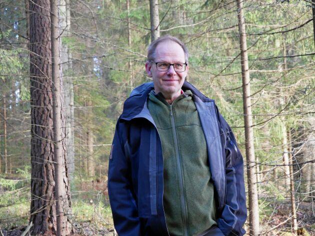 Leif Öster, skogsägare i Dalarna.