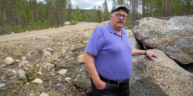 Skogsbolag byggde väg på hans mark utan tillstånd