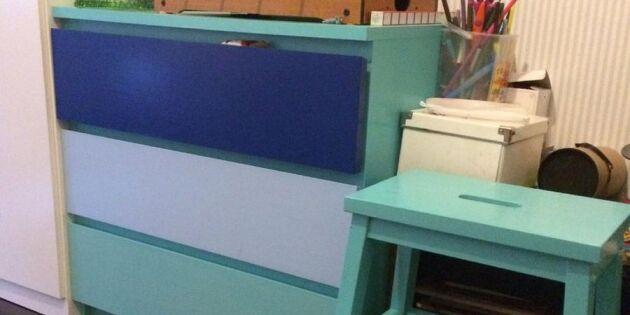Trista möbler får nytt liv med sprayfärg
