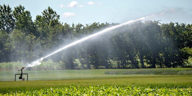 Låga grundvattennivåer i landet