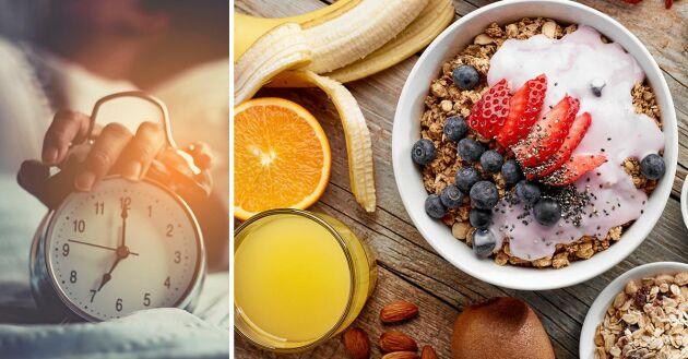 Regelbundna vanor när det gäller mat och sömn är A och O för att hålla vikten.