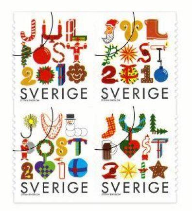 Julfrimärke av Stefan Engblom 2010.