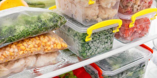 Så organiserar du i frysen – spar pengar och plats