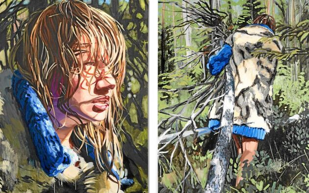 Going into trance heter serien av uppmärksammande målningar från skogen och myren nära Älvkarhed i Hälsingland.