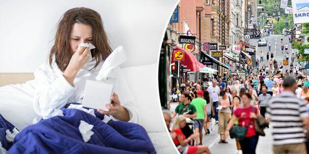 Ny forskning: Influensaepidemier varar längst i storstan