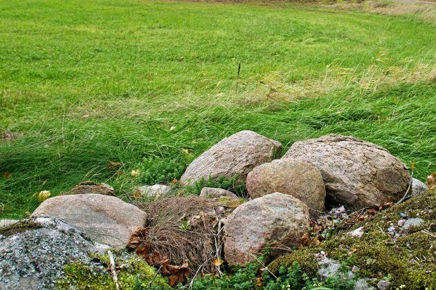 De här stenarna lämnade IP Onlys entreprenör kvar 2014 och har fortfarande inte kört bort dem.