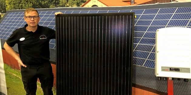 Nya solcellen ger både el och värme