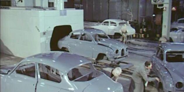 Välkommen in i SAAB-fabriken - år 1960