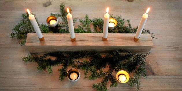 Snickra vackraste ljusstaken till advent
