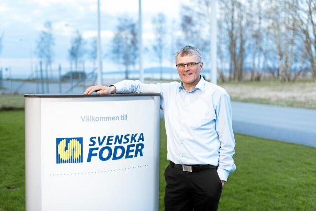 Carsten Klausen, VD för Svenska Foder, är nöjd med att bolaget har kunnat upprätthålla omsättning och resultat efter den låga skörden 2018.