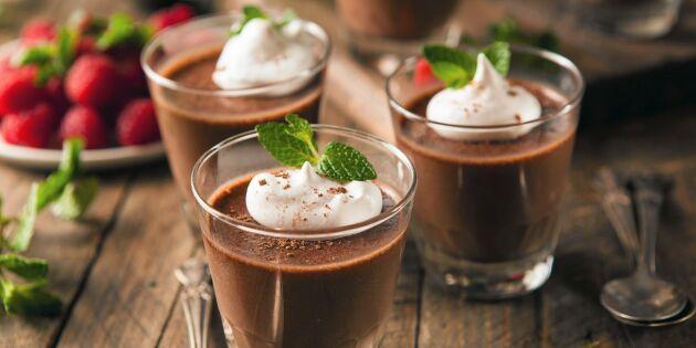 Lyxig fransk chokladmousse med smak av kaffe