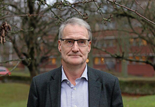Lars Andersson, ordförande för Sveriges Jordbruksarrendatorer, SJA, som arrenderar Frövi gård, Skultuna, Västerås, av Statens fastighetsverk.