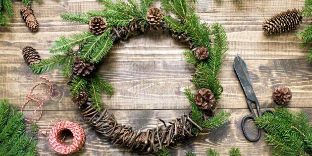 Vira en stomme till julens krans – av höstens skräp!