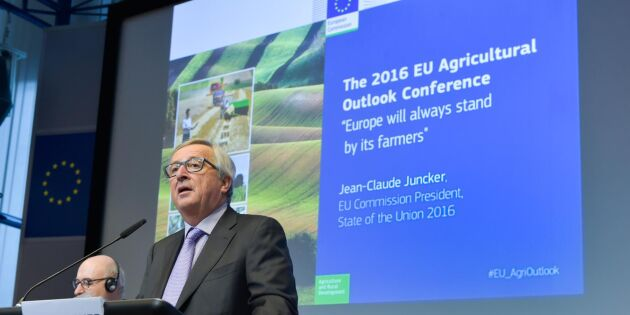 Juncker vill se modernare jordbrukspolitik
