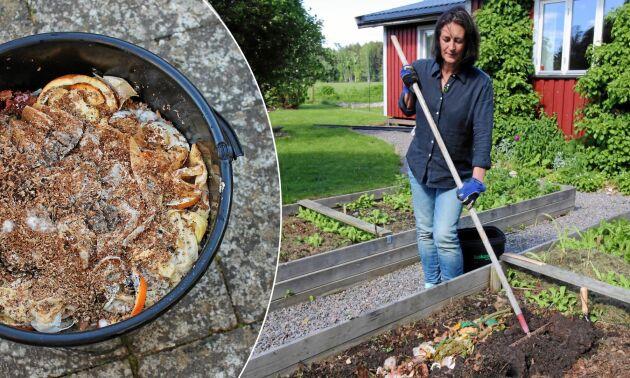 Bokashi förvandlar avfall till fin jord.