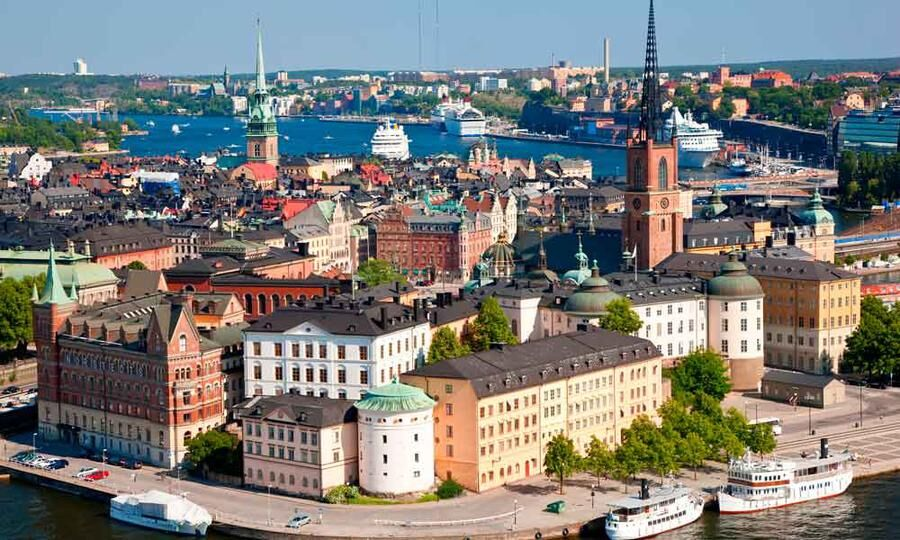 Vy över Gamla stan i Stockholm.
