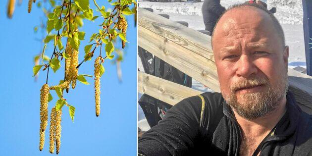 Anders flyttade 130 mil – för att slippa sin svåra pollenallergi