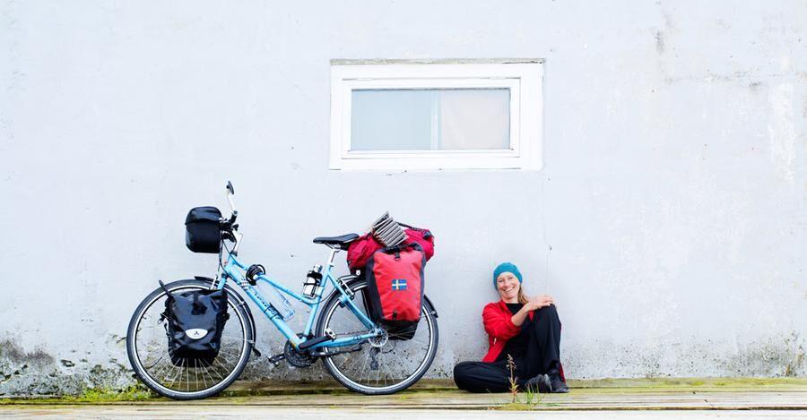 Hanna Mi Jakobson är en van cykelturist och chefredaktör för tidningen Cykling. Foto: Privat.