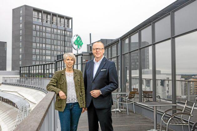 LRF:s vd Anders Källström har uppskattat det nära samarbetet med Helena Jonsson.