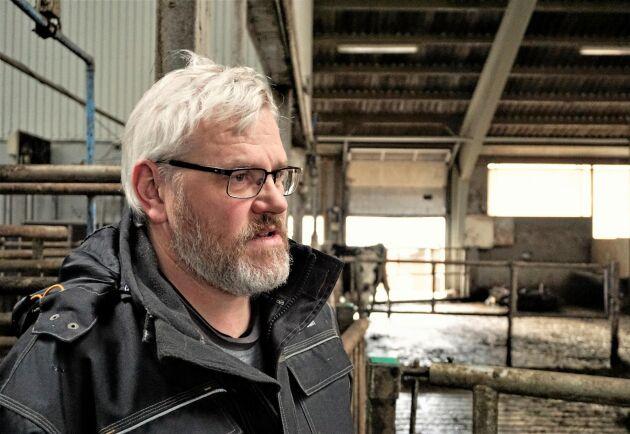 – Vi är ekologiska producenter och är intresserade av att få ned vårt klimatavtryck, säger mjölkbonden Kjartan Poulsen.