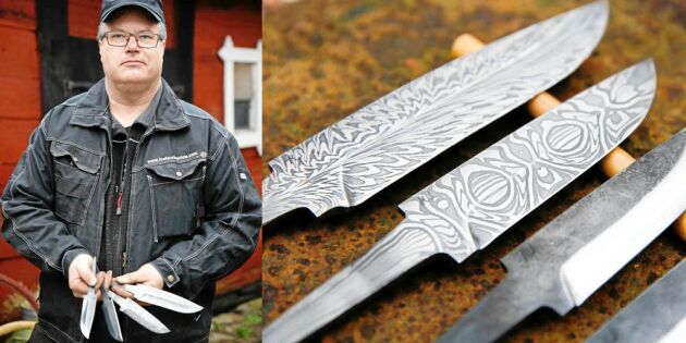 Magnus smider unika hantverksknivar – av rymdmaterial