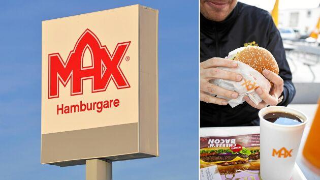 Max har enbart svenskt nötkött i sina hamburgare.
