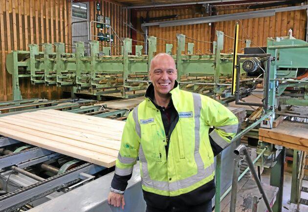 Huvudmarknaderna för Holmens trävaror är Storbritannien och Sverige. Johan Padel är vd för Holmen Timber.