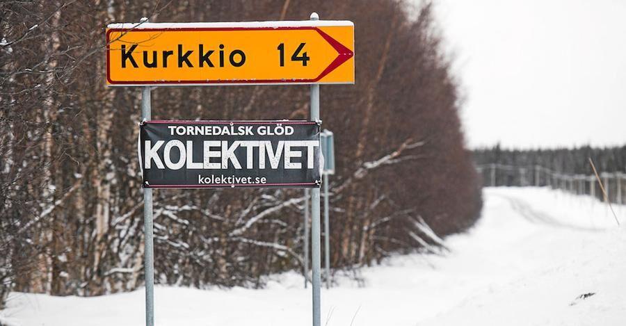 Kolektivet har fått egen skylt - och sätter Kurkkio på kartan.
