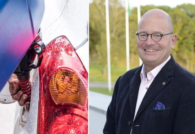 Hampe Mobärg är VD för maskinentreprenörerna som jobbar med flera olika initiativ för att få bukt med dieselstölder. Arkivbild.