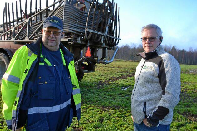Tommy Andersson, lantbrukare utanför Eksjö, och Peråke Nilsson, verksamhetschef maskinring Småland, hade mycket kontakt i somras.