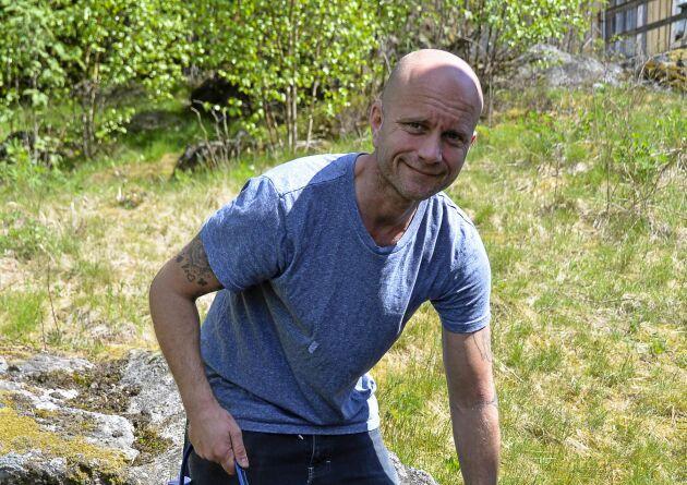 Mikael Lindskog, ordförande i Sjuhäradsbygdens hundkapplöpningssällskap.