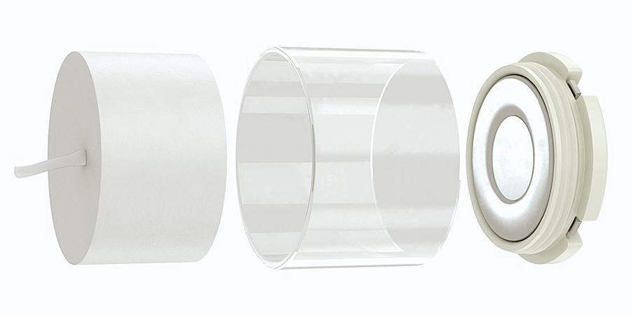 REFILL Nya, smarta värmeljushållare med en glashållare där man stoppar in refilljus.