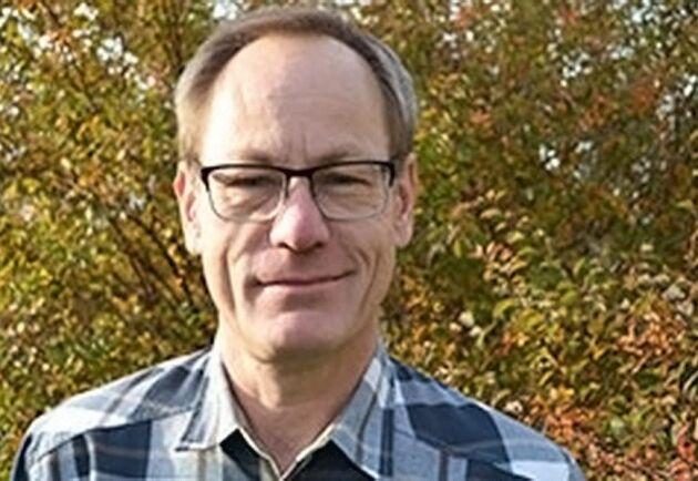 Ingemar Karlsson, platschef på Trekantens plantskola i Kalmar.
