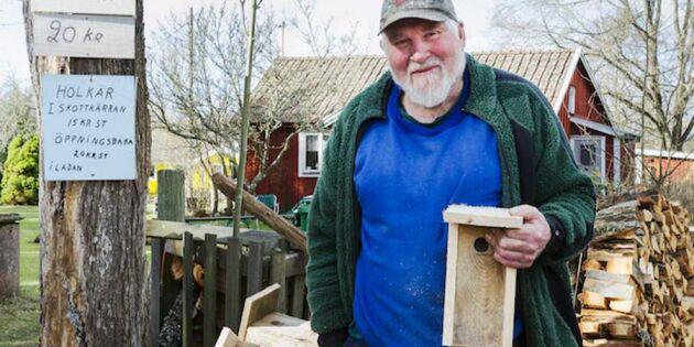 Lennarts fågelholkar sprids över Europa – från skottkärran i Läckeby