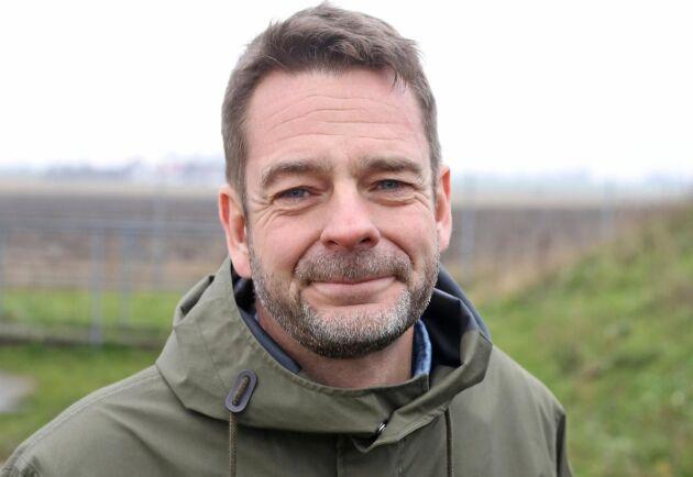 Markus Olsson, vd i Gasum, som vill få miljötillstånd till gödsel och slaktavfall i Jordberga.