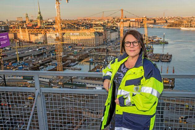 Eva Rosman, kommunikationsansvarig Slussen, Stockholm stad.