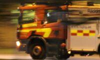 Foderanläggning i våldsam brand