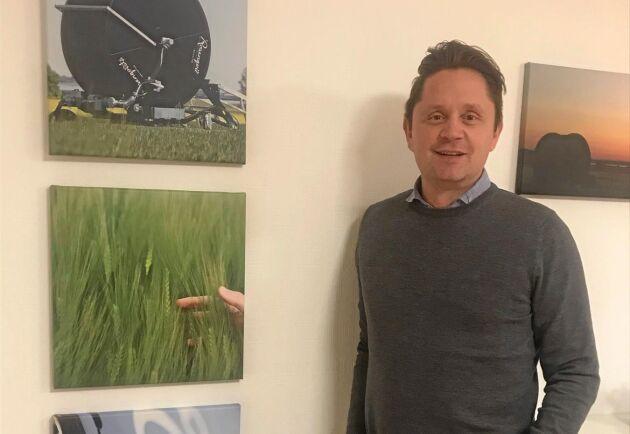 Mathias Granath, försäljningschef på Rosenqvists Irrigation.