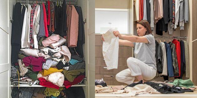 Tre enkla test – så vet du vad du kan rensa bort i garderoben