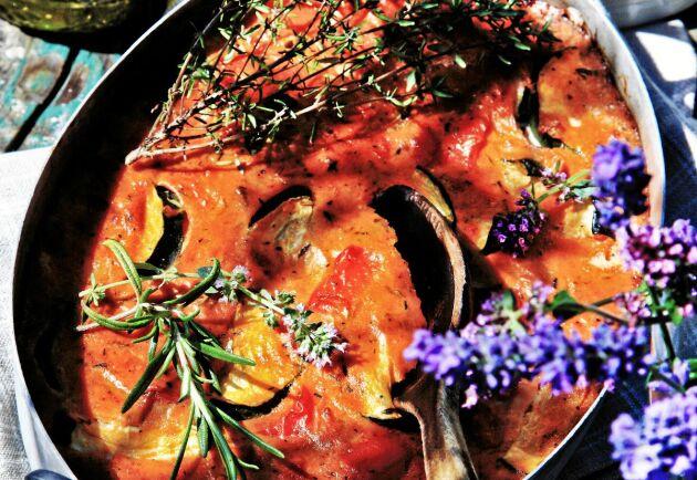 I Sydfrankrike äter man ofta varianter på grönsaksomelett.