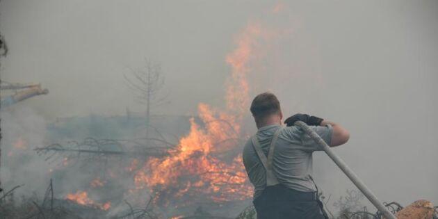 Fler räddningsvärn vid skogsbränder