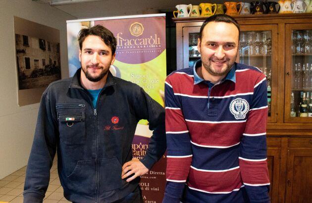 """""""Här finns det jobb, särskilt inom turismen. Jag har vänner från Verona som kommer hit för arbetets skull"""", säger Fabio Fraccaroli, här bredvid sin bror Nicola."""
