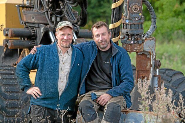 Uppfinnarkollegerna Mikael Andersson och Johan Nordh.