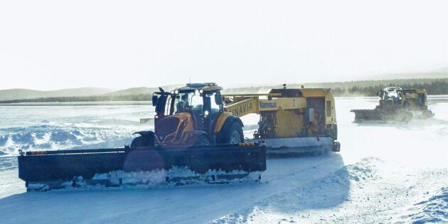 Take off för förarlösa traktorer
