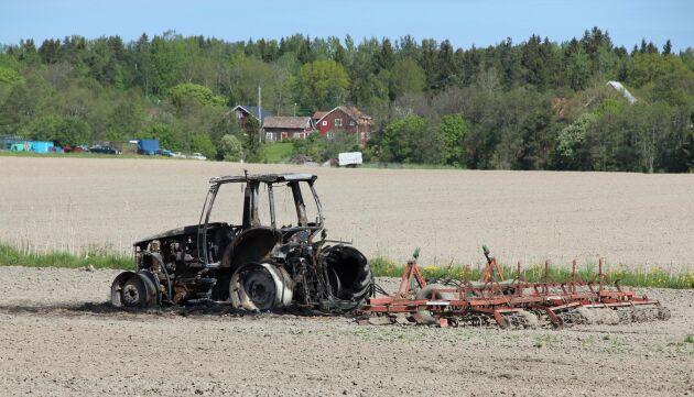Utbrunnen traktor.