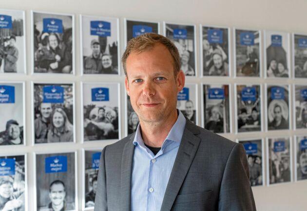 Anders Fredriksson tror att den norrländska mjölkproduktionen kommer att växa.