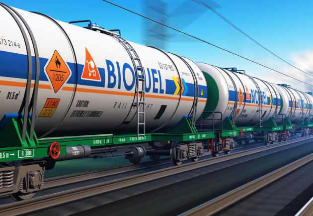Transport av biogas. Arkivbild.